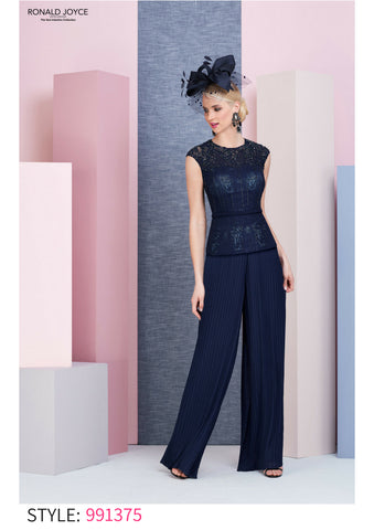 991375 Veni Infantino navy trouser suit mother of the bride outfit autumn winter 2018