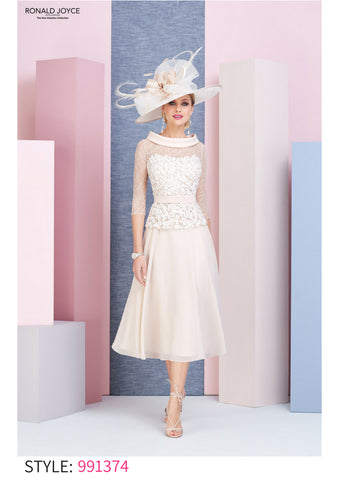 991374 Veni Infantino blush pink dress floaty skirt mother of the bride outfit dress autumn winter 2018