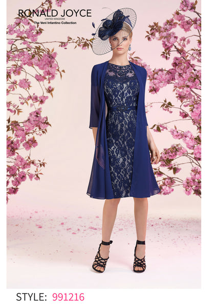 991216 Navy/Blue Veni Infantino Autumn/winter mother of the bride dress