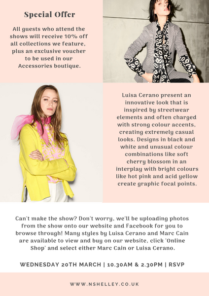 Luxury Brands show marc cain lusia cerano twinset marella spring summer 2019