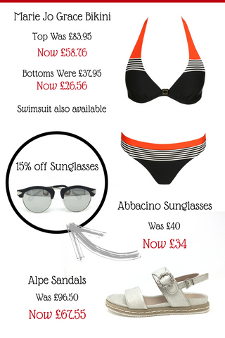 The N.Shelley summer sale now on 30% off swimwear marie jo grace alpe sandals designer sunglasses