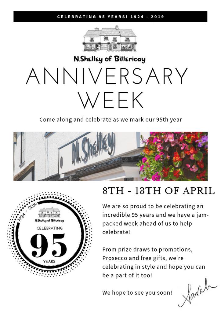 N.Shelley 95th anniversary week 8th - 13th april 2019