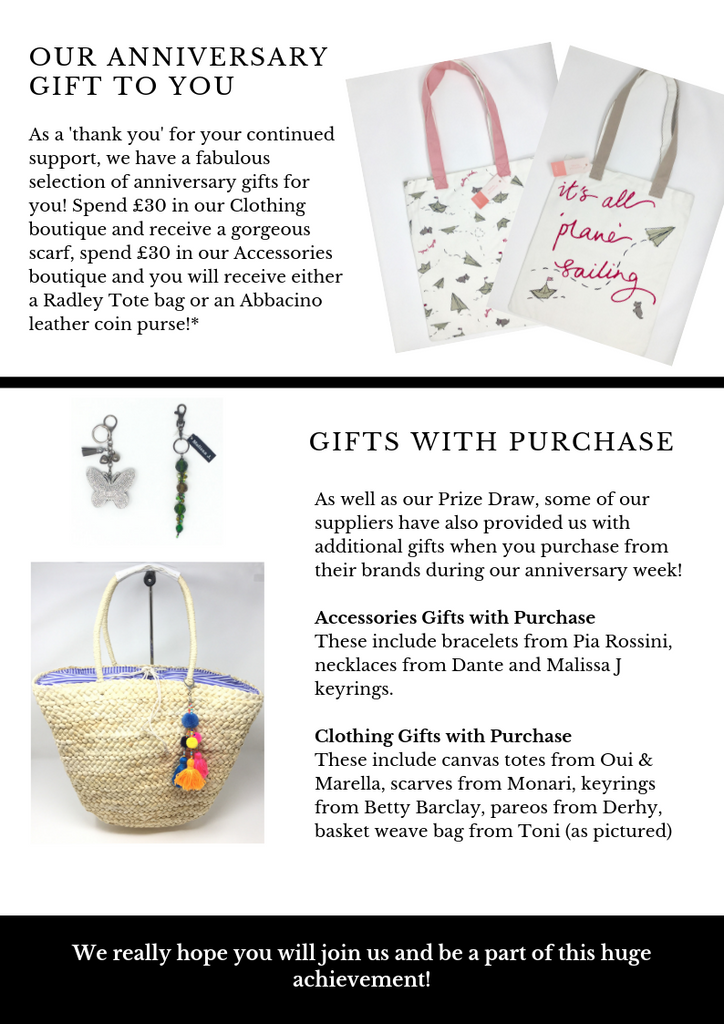 N.Shelley 95th anniversary week 8th - 13th april 2019 gifts with purchase