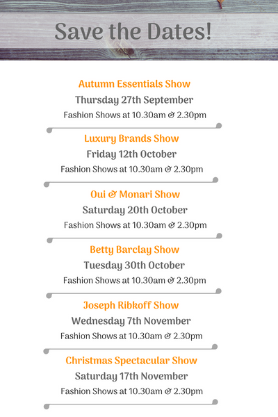 Autumn winter fashion shows N.Shelley events