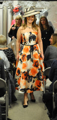 Veni Infantino orange floral dress mother of the bride groom 991418