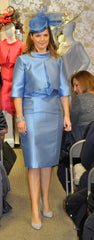 Fely Campo cornflower blue dress mother of the bride groom