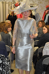 Fely Campo silver dress mother of the bride groom
