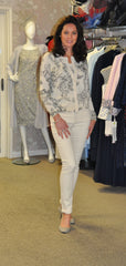 Spring Summer Twinset cream and black cardigan and vest