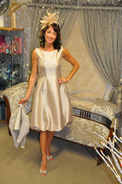Fely Campo bubble hem dress without jacket gold mother of the bride groom guest of wedding