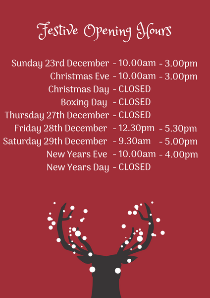 N.Shelley Christmas opening hours
