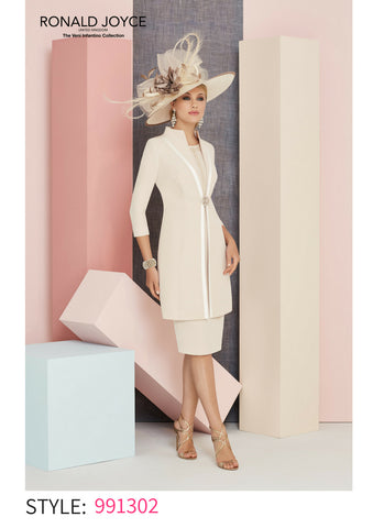 Veni Infantino dress long coat jacket 991302 spring summer 2018 mother of the bride outfit