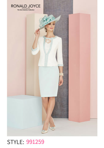 Veni Infantino cream pale blue turqouise 991259 spring summer 2018 mother of the bride outfit