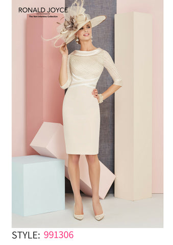 Veni Infantino cream beige blush dress 991306 spring summer 2018 mother of the bride outfit