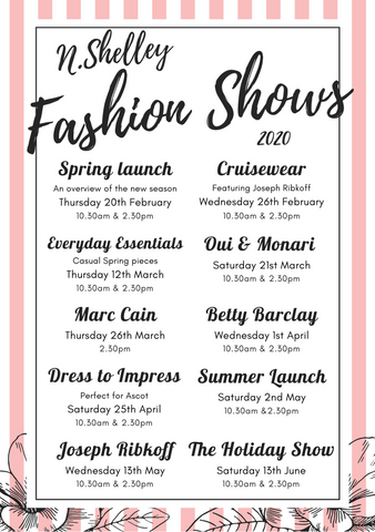 N Shelley spring summer events fashion shows