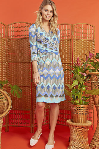 Onjenu LEXI Wrap Dress PORTA BLUE