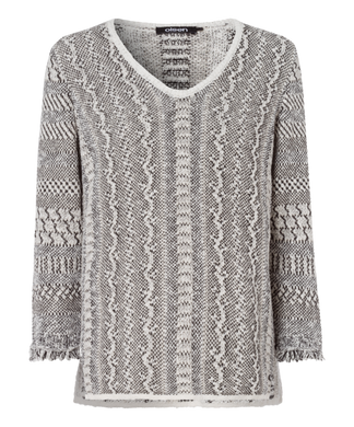 Olsen Animal Print Sweater - Light Sand - 11003092 - SS20