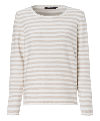 Olsen Striped Sweater - Off White - 11003120 - SS20