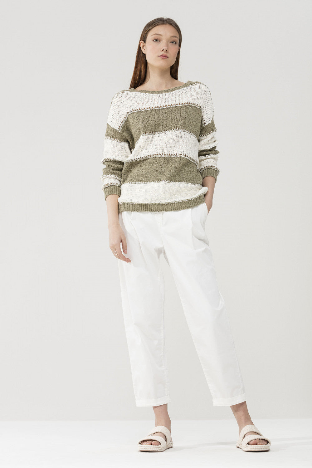 Luisa Cerano Stripe Sweater