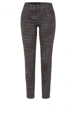 Toni Grey & Rust Check Perfect Shape Jeans