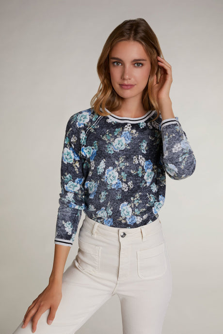 Oui Floral Sweater 70053