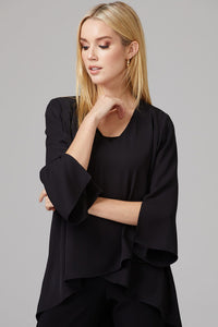 Joseph Ribkoff Black Layered Blouse