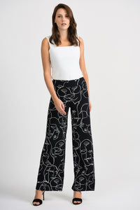 Joseph Ribkoff Wide Leg Trousers - Black/White - SS20 - 201184
