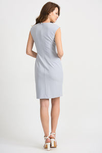 Joseph Ribkoff Fitted Dress - Frost Grey - 201218/201217