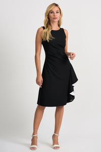 Joseph Ribkoff Frill Dress - Black/White - 201319