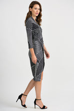 Joseph Ribkoff Wrap Dress - Black/White - SS20 - 201470