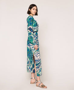 Twinset Long Dress 201TP2533 Paisley