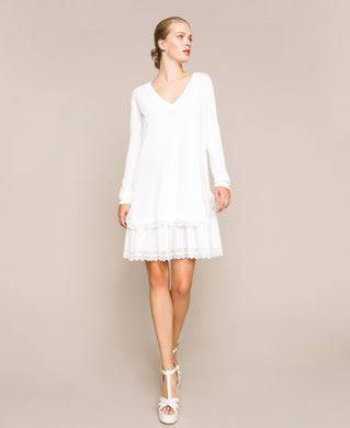 Twinset Broderie Anglaise Dress 201TP3041 Off White SS20