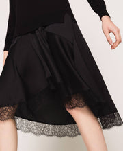 Twinset Lace Trim Dress 201TP3070 Black