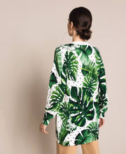 Twinset Palm Print Sweater 201TP3263 Green
