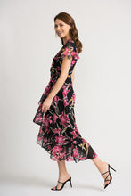 Joseph Ribkoff Wrap Dress - 202429 - Black/Pink SS20