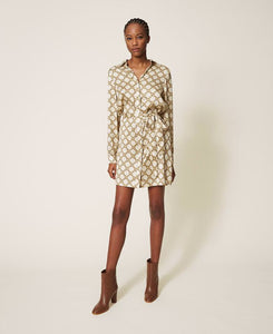 Twinset Chain Print Shirt Dress