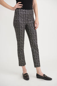 Joseph Ribkoff Abstract Check Trousers