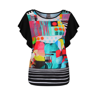 Dolcezza T-Shirt - 20651 - Black Multi