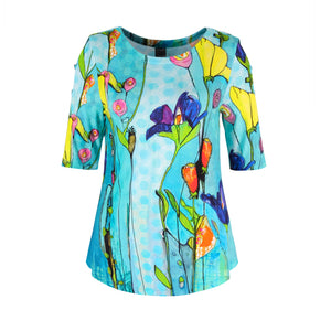 Dolcezza Floral T-Shirt - 20740 - Turquoise