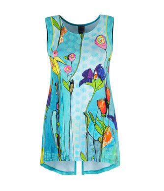 Dolcezza Floral Tunic - 20741 - Turquoise