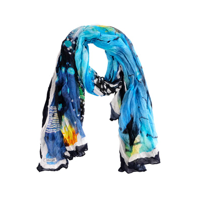 Dolcezza Print Scarf - 20902 - Blue/Turquoise