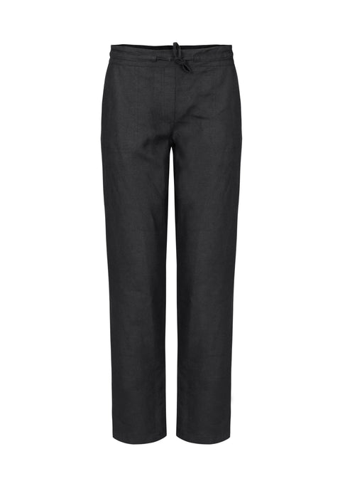 Dolcezza Black Linen Trousers