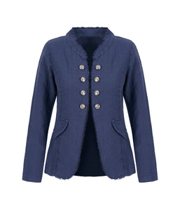 Dolcezza Linen Military Jacket