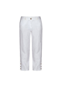 Dolcezza White Linen Trousers