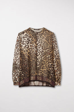 Luisa Cerano Animal Print Blouse 228250/2492