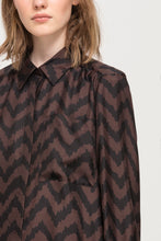 Luisa Cerano Chocolate & Black Silk Shirt