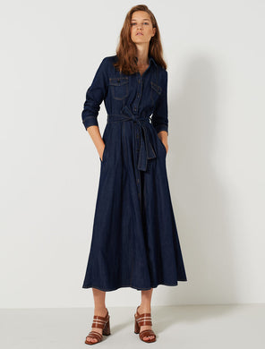Marella Denim Dress Canneto Dark Denim SS20