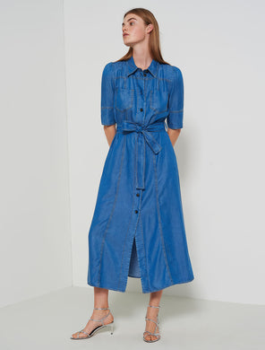 Marella Shirt Dress Goletta Denim SS20