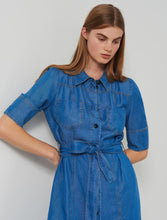 Marella Shirt Dress Goletta Denim