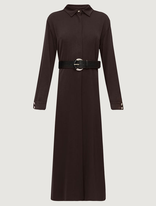 Marella Satin Shirt Dress