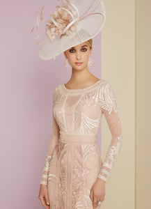Veni Infantino Embellished Antique Rose Dress